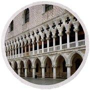 Doge's Palace And Basilica San Marco Round Beach Towel