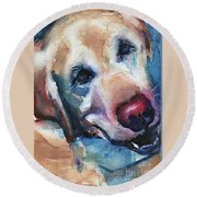 Doggie Breath Round Beach Towel