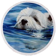 Doggie Paddle Round Beach Towel