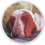 Dog's Portrait No 1 Round Beach Towel
