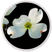 Dogwood Blossoms Painted For Jerry Round Beach Towel