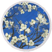 Dogwood Trees Round Beach Towel