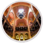 Dohany Synagogue In Budapest Round Beach Towel