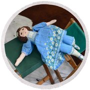 Doll And Camp Chairs 1800s Round Beach Towel