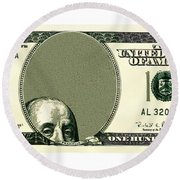 Dollar Peek A Boo Round Beach Towel
