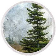 Dolly Sods Pine Round Beach Towel