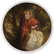 Dolly Vardon Round Beach Towel