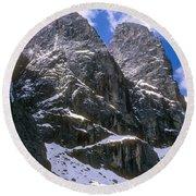 Dolomite Twin Peaks Round Beach Towel