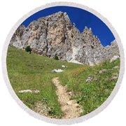 Dolomites - Gran Cir Round Beach Towel