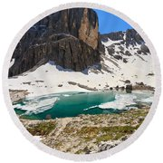 Dolomites - Pisciadu' Peak Round Beach Towel