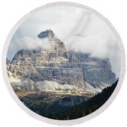 Dolomites Of Italy Round Beach Towel