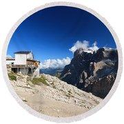 Dolomites -pale San Martino Group Round Beach Towel