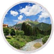 Dolomiti - Avisio Stream Round Beach Towel
