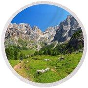 Dolomiti - Contrin Valley Round Beach Towel