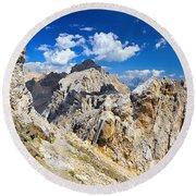 Dolomiti - Costabella Mount Round Beach Towel