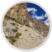 Dolomiti - Gran Cir Round Beach Towel