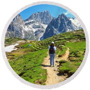 Dolomiti - Hiking In Contrin Valley Round Beach Towel