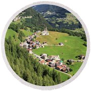 Dolomiti - Laste Village Round Beach Towel