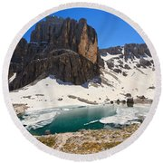 Dolomiti - Pisciadu Lake Round Beach Towel