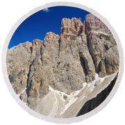 Dolomiti - Piz Da Lech Round Beach Towel