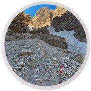 Dolomiti - Val Setus Round Beach Towel