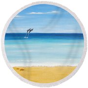 Dolphin Beach Round Beach Towel