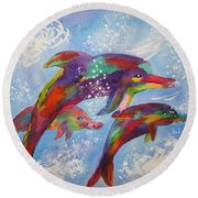Dolphin Playjourney Round Beach Towel