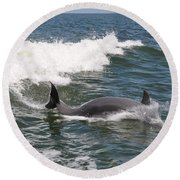 Dolphin Surf Round Beach Towel