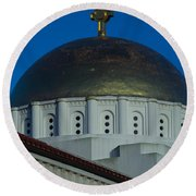 Dome At St Sophia Round Beach Towel