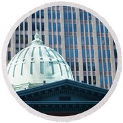 Dome Of Art Museum  Round Beach Towel