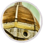 Dome Of Florence Round Beach Towel