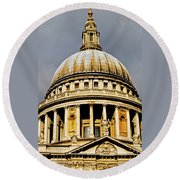 Dome Of St. Paul's Cathedral Round Beach Towel