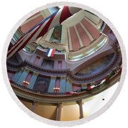 Dome Of The Old Courthouse Round Beach Towel