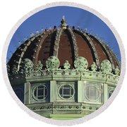 Dome Top Of Carousel House Asbury Park Nj Round Beach Towel
