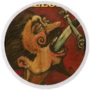 Dominick The Daring Poster Round Beach Towel