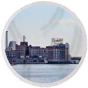 Domino Sugars - Baltimore Maryland Round Beach Towel