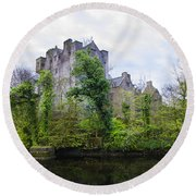 Donegal Castle In Donegaltown Ireland Round Beach Towel