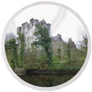 Donegal Castle Ruins Round Beach Towel