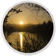 Donegal Morning - Lough Eske Round Beach Towel