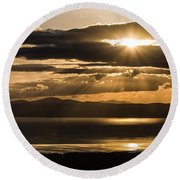 Donegal Sunset Round Beach Towel