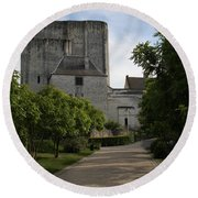 Donjon Loches - France Round Beach Towel