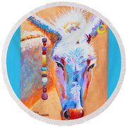 Jack's Other Girl - Burro - Donkey Round Beach Towel