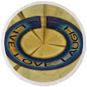 Donna's Message To You Round Beach Towel