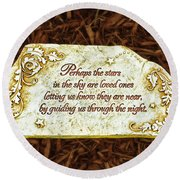 Donna's Special Message Round Beach Towel