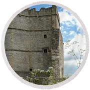Donnington Castle Round Beach Towel