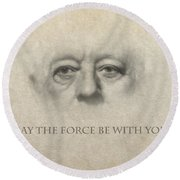 Dont Be Afraid Of The Dark Side Round Beach Towel