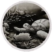 Doomed Sea Life Round Beach Towel