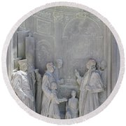 Door Detail Cathedral Siena Round Beach Towel