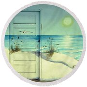 Door Of Perception Round Beach Towel