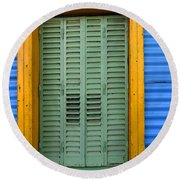 Doors And Windows Buenos Aires 14 Round Beach Towel